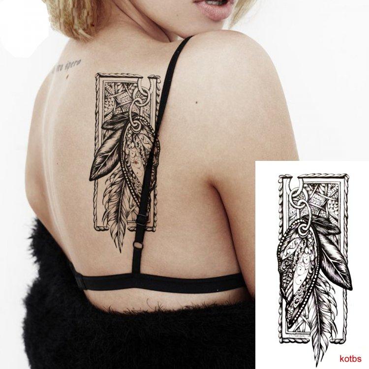 Kotbs 6 Sheets Sexy Temporary Tattoo Body Art 3d Fox Owl Flower Tattoo Sticker For Women Girl Fake Tattoos Painless Stickers