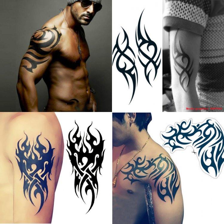 Large Totem Tattoo Body Art Temporary Tattoos Fake Tattoo Stickers