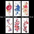 Kotbs 6 Sheets Temporary Tattoos Paper Sexy Flower Body Tattoo Sticker for Women & Girl Fake Tattoo (Peony, Rose, Peach, Plum)