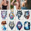 Kotbs 8 Sheets Large Rose Temporary Tattoo Waterproof Sexy Bright Tattoo Sticker for Women Body Art Makeup Temporary Floral Tattoos Fake Tattoo
