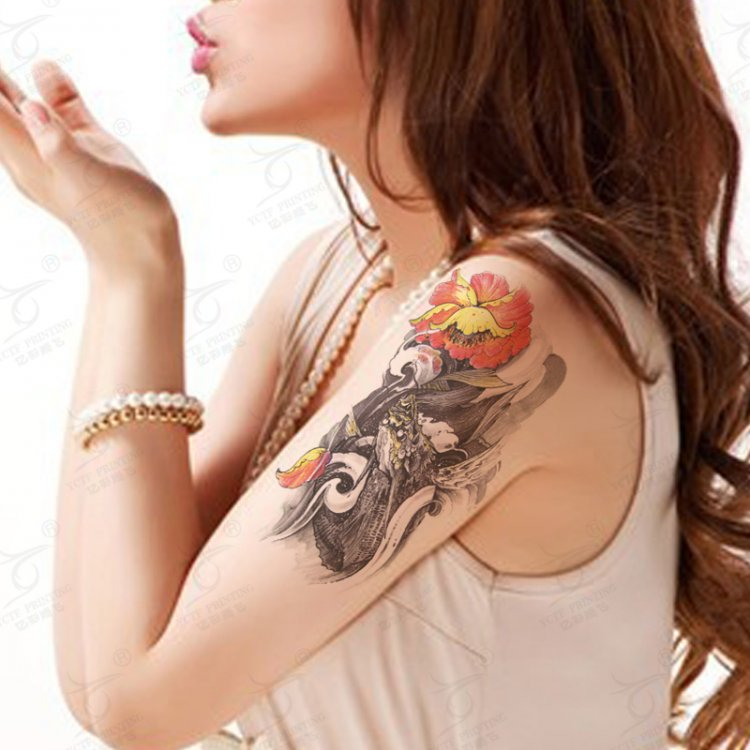 Large Classic Fan Temporary Tattoo Sexy Body Art Tattoos Sticker Fake Tattoo For Women Party Makeup Waterproof