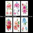 Kotbs 6 Sheets Flower Temporary Tattoo Paper Body Art Sexy Tattoo Sticker for Women & Girl Fake Tattoo (Lotus, Rose, Peony)