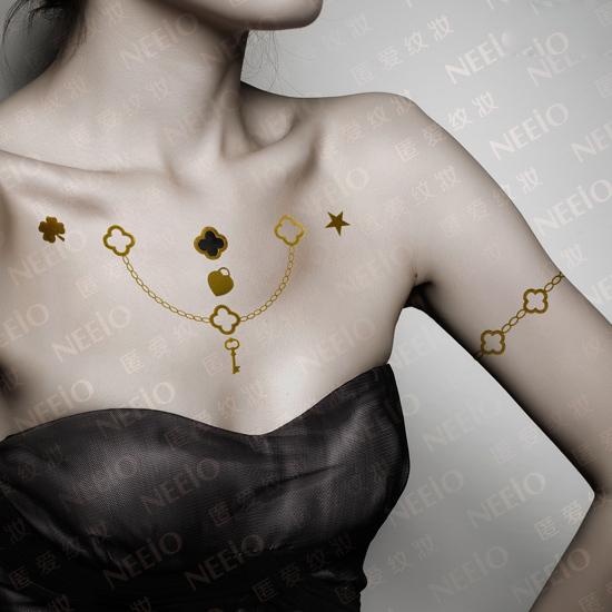 5d3b73c5c Flash Tatoo Gold Metallic Temporary Tattoos Sticker Body Art Flash Inspired
